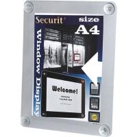 Securit raamdisplay A4 grijs
