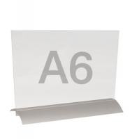 menuhouder a6 liggend met alu-voet