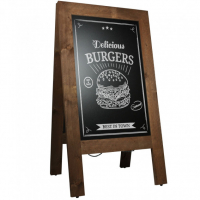 Krijtstoepbord Steigerhout Bruin 75x135 cm